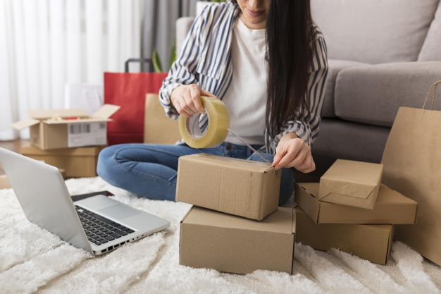 packing onlineshop